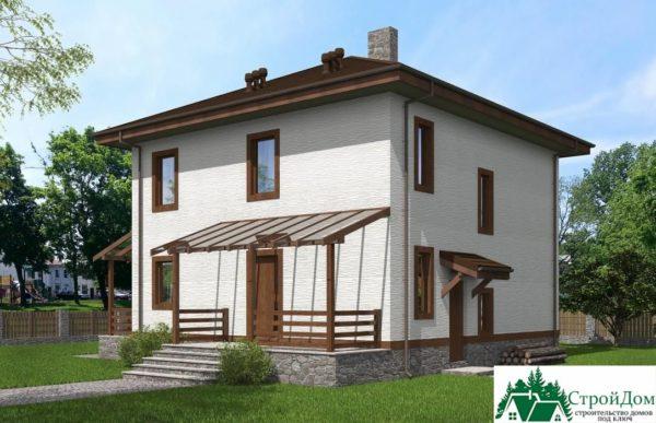 проект двухъэтажного дома 108 вид 2 5