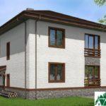 проект двухъэтажного дома 108 вид 3 5