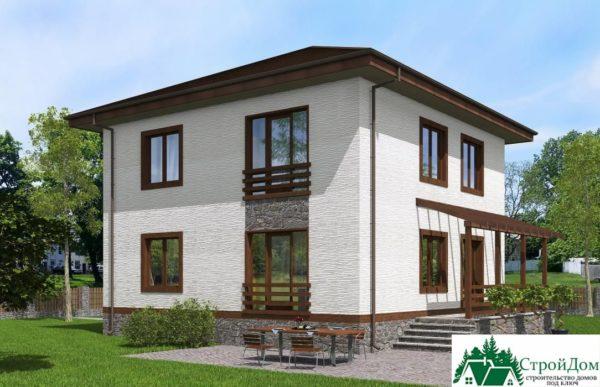 проект двухъэтажного дома 108 вид 4 5