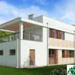 проект двухъэтажного дома 136 вид 3 11