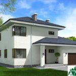 проект двухъэтажного дома 158 вид 1