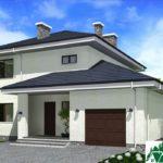 проект двухъэтажного дома 158 вид 2