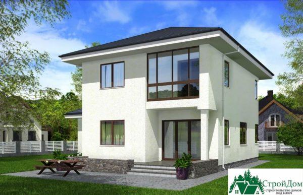 проект двухъэтажного дома 158 вид 4