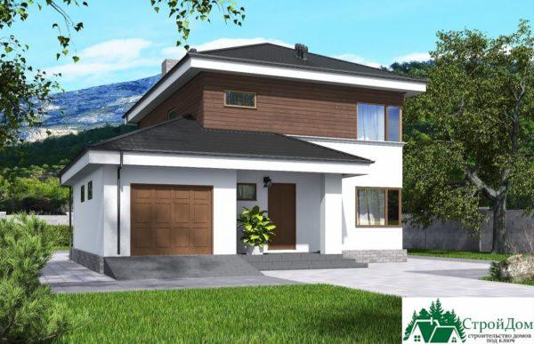 проект двухъэтажного дома 195 вид 2 7