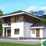 проект двухъэтажного дома 195 вид 3 7