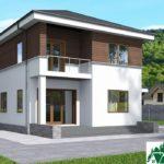 проект двухъэтажного дома 195 вид 4 7