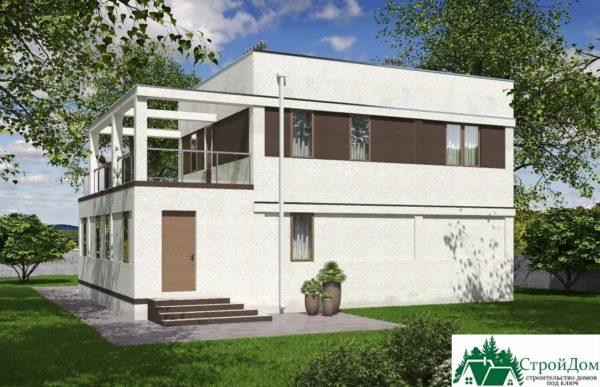 проект двухъэтажного дома 264 вид 3 1