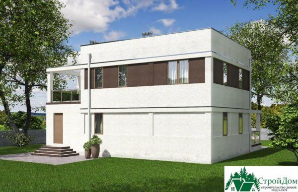 проект двухъэтажного дома 264 вид 4 1