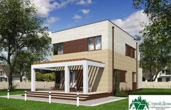 проект двухъэтажного дома 300 вид 2 9