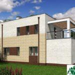 проект двухъэтажного дома 300 вид 3 9