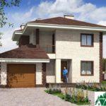проект двухъэтажного дома 342 вид 1 10