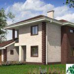 проект двухъэтажного дома 342 вид 2 10