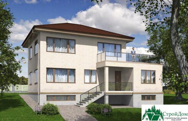 проект двухъэтажного дома 344 вид 1 12