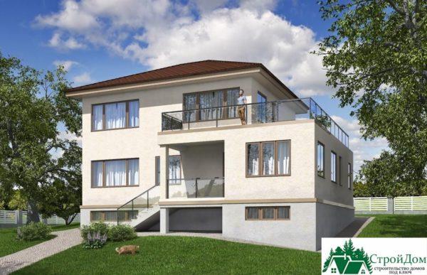проект двухъэтажного дома 344 вид 2 12
