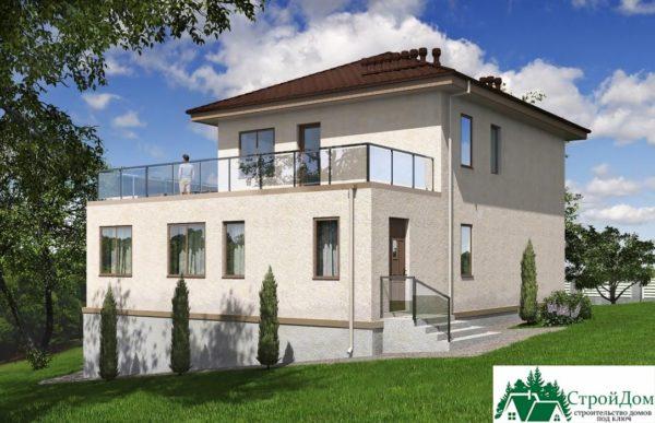 проект двухъэтажного дома 344 вид 3 12