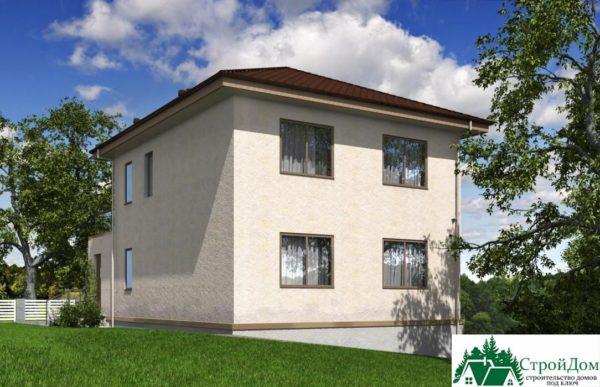 проект двухъэтажного дома 344 вид 4 12