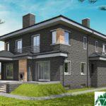 проект двухъэтажного дома 547 вид 4 15