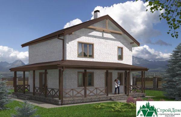 проект двухъэтажного дома 617 вид 1 8