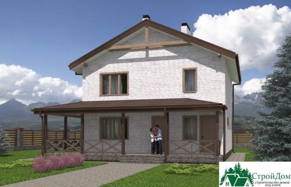 проект двухъэтажного дома 617 вид 2 8