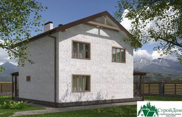проект двухъэтажного дома 617 вид 3 8
