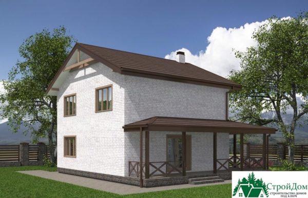 проект двухъэтажного дома 617 вид 4 8
