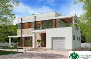 проект двухъэтажного дома 669 вид 1 6
