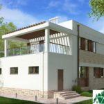 проект двухъэтажного дома 669 вид 3 6