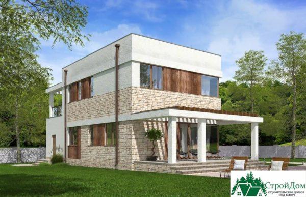 проект двухъэтажного дома 669 вид 4 6