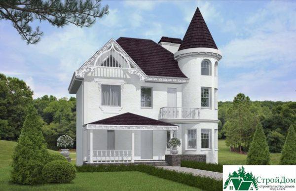 проект двухъэтажного дома 927 вид 2 14