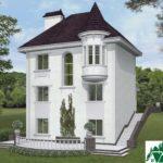 проект двухъэтажного дома 927 вид 4 14