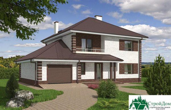 проект двухъэтажного дома 933 вид 1 2