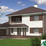 проект двухъэтажного дома 933 вид 2 2