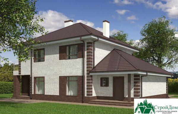 проект двухъэтажного дома 933 вид 4 2