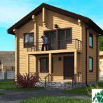Проект индивидуального двухэтажного жилого дома с балконом SD-496 Вид1