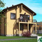 Проект индивидуального двухэтажного жилого дома с балконом SD-496 Вид2