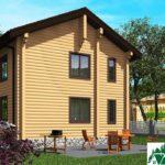 Проект индивидуального двухэтажного жилого дома с балконом SD-496 Вид3