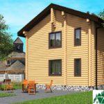 Проект индивидуального двухэтажного жилого дома с балконом SD-496 Вид4
