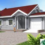 Проект одноэтажного дома с гаражом и террасой SD-632 Вид1