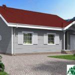 Проект одноэтажного дома с гаражом и террасой SD-632 Вид2
