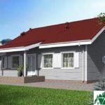Проект одноэтажного дома с гаражом и террасой SD-632 Вид3