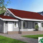 Проект одноэтажного дома с гаражом и террасой SD-632 Вид4