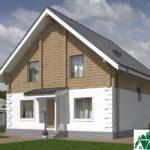 Проект одноэтажного дома с мансардой и террасой SD-489 Вид2