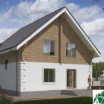 Проект одноэтажного дома с мансардой и террасой SD-489 Вид3