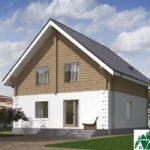 Проект одноэтажного дома с мансардой и террасой SD-489 Вид4