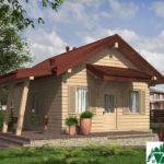 Проект одноэтажного дома с террасой SD-331 Вид1