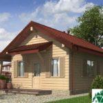 Проект одноэтажного дома с террасой SD-331 Вид2