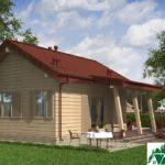 Проект одноэтажного дома с террасой SD-331 Вид4