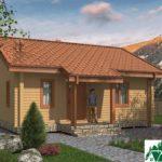 Проект одноэтажного дома с террасой SD-438 Вид1