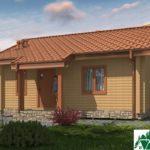 Проект одноэтажного дома с террасой SD-438 Вид2