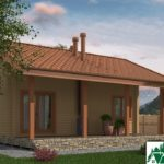Проект одноэтажного дома с террасой SD-438 Вид3